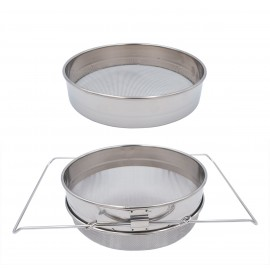 SS Double Honey Sieve
