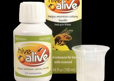 HiveAlive 100ml bottle cap box US March 2019